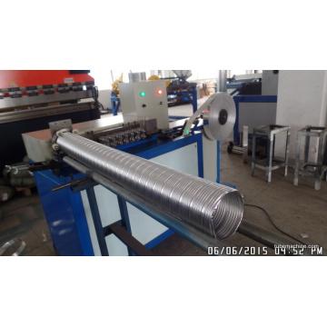 Máquina espiral flexible del conducto de la hoja de aluminio