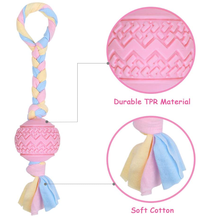 Pink Pet Teething Toys