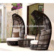 luxury outdoor rattan leisure sofa wicker furniture