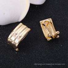 Pendientes chapados en oro de 14k pulidos para joyería de Madres días