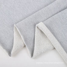 Knit shiny polyester cotton lurex microfiber terry fabric