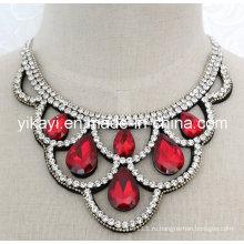 Леди мода костюм ювелирные изделия Водослива хрусталя Кулон ожерелье (JE0199)