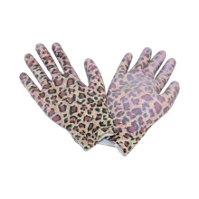 13G Knitted Seamless Printing Polyster Liner Glove with PU Coated