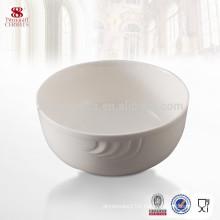 White bone china ceramic dinnerware porcelain round bowl