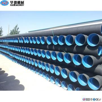 Línea de extrusión de tubería corrugada de doble pared de 200-600 mm
