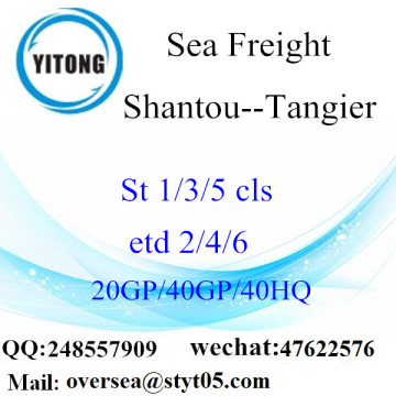 Shantou Port Sea Freight Shipping Para Tangier