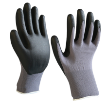 3D Seamless Elastic Fit Nylon Ly cra Natural Rubber Crinkle Work Gloves