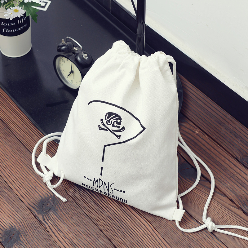 drawstring bag logo