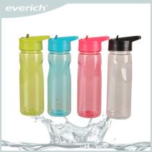 Bouteille d'eau sport à bas prix avec paille, bouteille d'eau de promotion tritan