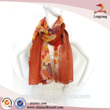 fashion 100% silk digital printed scarf wholesale
