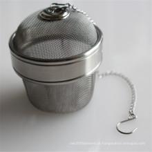 Trade assurance aço inoxidável malha de metal bola de chá
