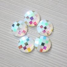 Ab Color Flat Back Steine mit zwei Löchern