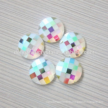 Ab Color Flat Back Stones Strass Beads with Holes