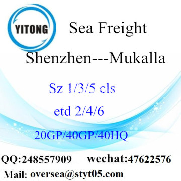 Shenzhen Port Sea Freight Shipping ke Mukalla