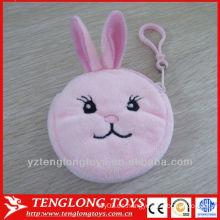 Promoción de regalo de felpa bolsa de dinero animal cartera de felpa