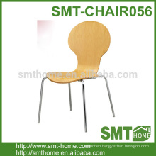 High Quality Solid Birch Bentwood Dining Chair Design With Mental Legs
