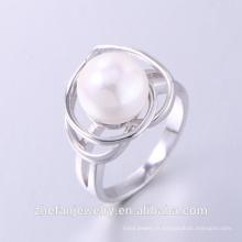 2018 vente chaude dernière conception anneau avec l'eau perle 925 bague en argent