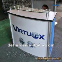 portable Büro Empfang Tisch Design Empfangstheke Tisch Design solider Oberfläche Empfangstheke