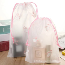 Customized pvc frosted Travel packing waterproof storage bag printing LOGO bundle pocke
