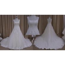 Sexy Sleeveless Beaded Wedding Dress
