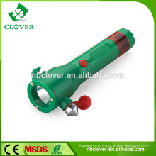 Chinese with safety hammer high power 1W LED plastic led torch flashlight