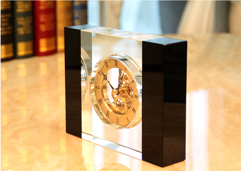 Acrylic Square Tabletop Clock