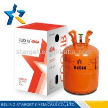 Refrigerante misturado de alta qualidade gás R404A no cilindro CE 10.9 kg / 24 lb