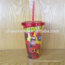 Zhuosheng Plastic Tumbler, Top Quality Double Wall 450ML Plastic Cup