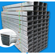 Galvanizing perforated cable tray