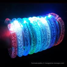 Bracelet de lumière LED / bracelet de sport en acrylique pour des événements