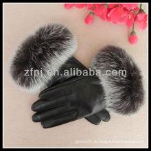 Edle Mädchenhandschuh mit Pelzfutter