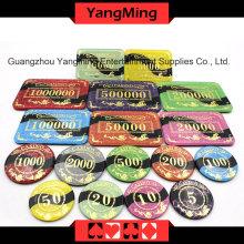 Anti-contrefaçon Bronzing Poker Chip (YM-CP022-23)