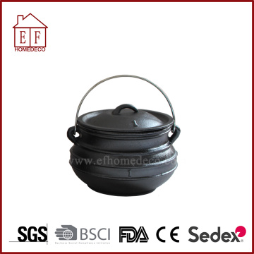 Ferro Fundido Plat Bottom Potjie Pot Size 1