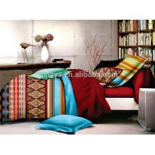 Tecido Technics Twill Microfiber Oriental Duvet Cover Conjunto de cama