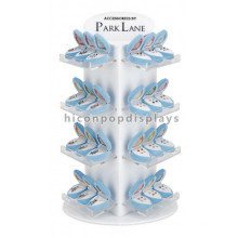 Retail Shop Concise Desktop Four-Shelves Wholesale Rotating Acrylic Jewellery Display Stands