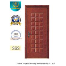 Puerta apretada del MDF del estilo clásico del agua para el interior con madera sólida (xcl-831)