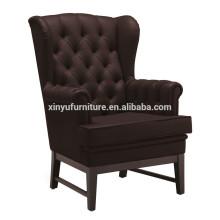 Modern brown leather hotel arm sofa chair XYD224