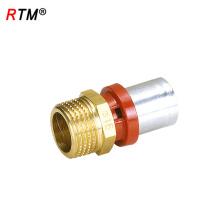 L 17 4 13 brass press fitting high quality male socket press fitting multilayer pipe press fitting