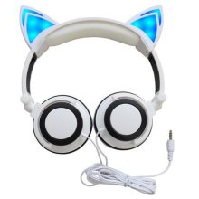 Kids comfort headphone with cat ear speakers