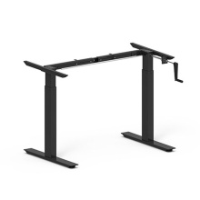 Metal Manual Hand Crank Height Adjustable Desk