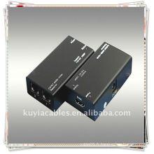 HDMI-CAT-HDMI Extender cat-5E ou cat-6 (recommandé) câbles jusqu'à 60 mètres au lieu du câble HDMI pour transmettre haute définition si