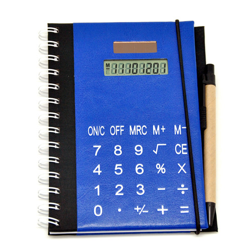 notebook calculator with pen