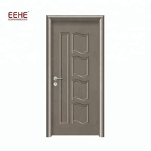 Simple Design MDF Wood Bathroom Door PVC Veneer