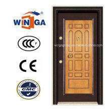 Dekorative Rahmen MDF gepanzerte Sicherheit Stahl Türen (W-T03)