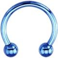 14 messen blau Elektro Titan Hufeisen