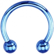 14 gauge azul titânio Electro ferradura