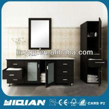 Горячая продажа Современная мебель для ванной комнаты с боковым шкафом Водонепроницаемый шкаф для ванной комнаты MDF