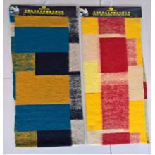 Jacquard woolen printing plush faux fur