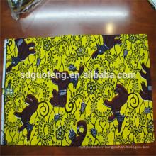 Super cire africaine de qualité imprime tissu cire hollandais