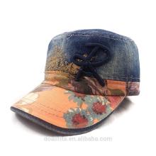Cowboy-Material mit gedrucktem emboridery Logo militärische Kappe Qualität